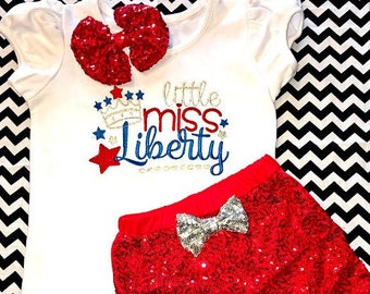 Girl 4th of July Outfit, Girl Fourth of July Outfit , Baby Girl 4th of July Outfit