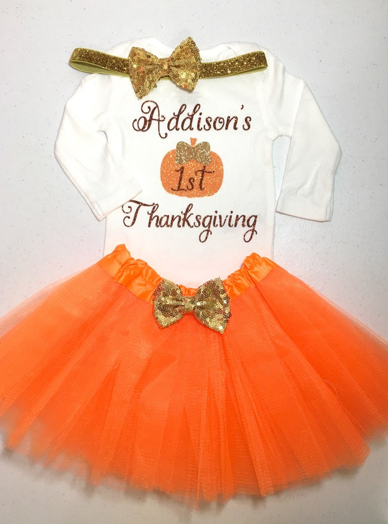 447bca1b3 Baby Girl Thanksgiving Outfit, Girl First Thanksgiving Outfit, Girl My  First Thanksgiving Outfit, Girl 1st Thanksgiving Outfit