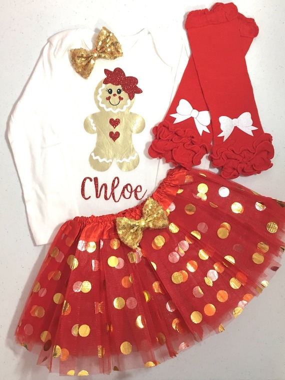 Toddler Christmas Outfit.Girl Christmas Outfit Girl Toddler Christmas Outfit Gingerbread Girl Outfit Gingerbread Girl Shirt Christmas Tutu Set