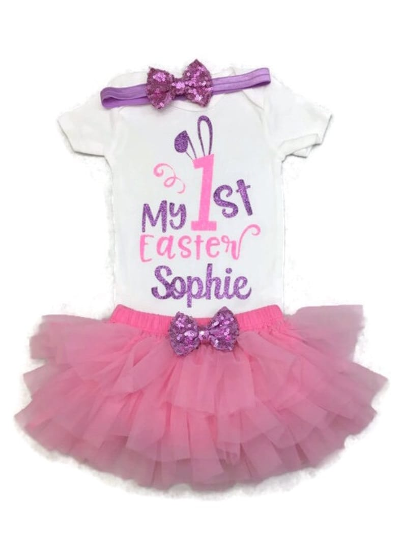 501995ce6 Baby Girl First Easter Outfit Girl My First Easter Outfit   Etsy