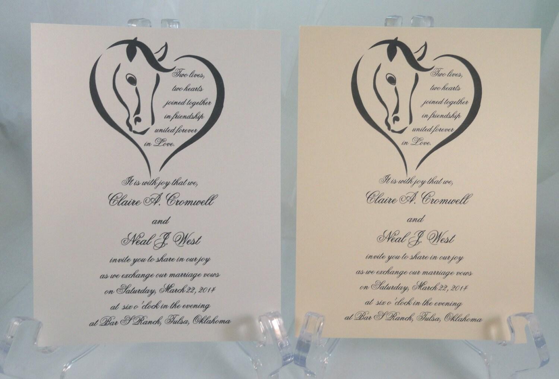50 Pferd Herz-Einladungen für Hochzeiten oder jedem Anlass | Etsy