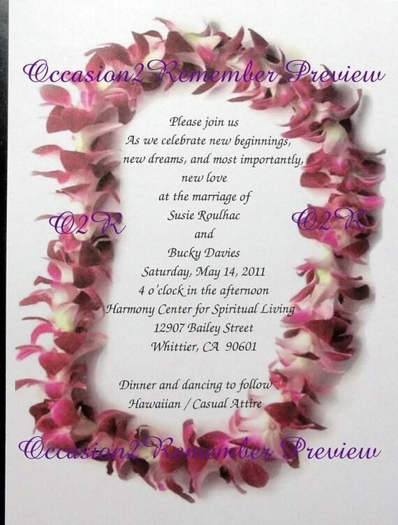 50 Invitaciones De Tema Hawaiano Y 50 Tarjetas Rsvp Para Bodas O Cualquier Ocasión Para Requisitos Particulares Para Usted