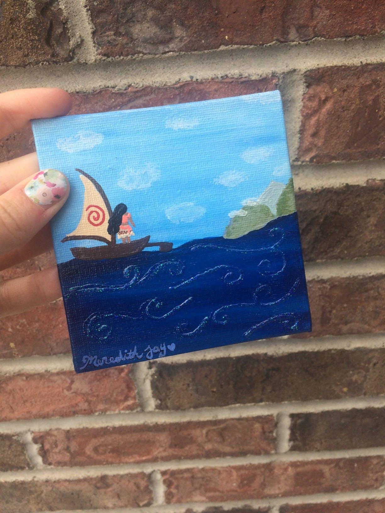Moana How Far Ill Go Ocean Mini Disney Painting With