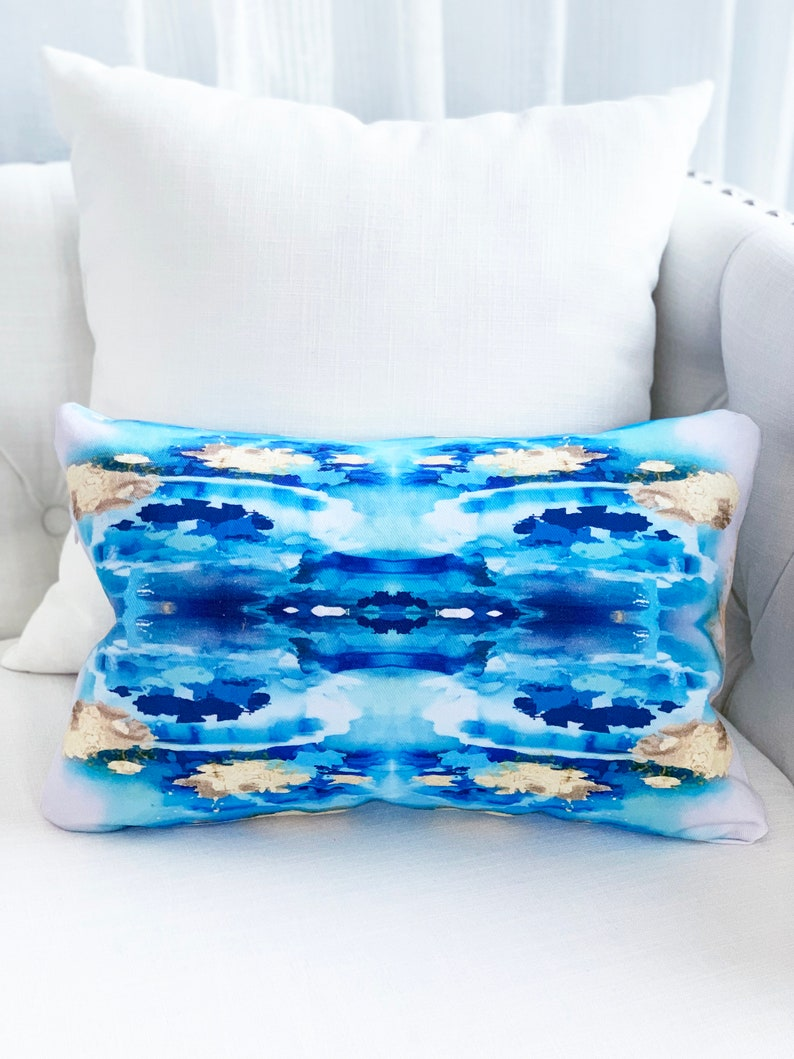 Abstract Art Throw Pillow inspired by  Painting in Gold image 0