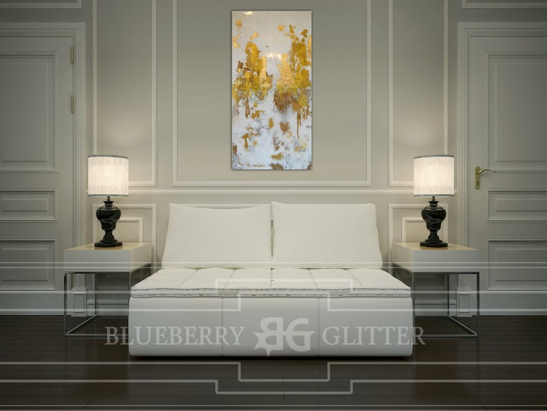 Sold Acrylic Abstract Art Large Canvas Painting White image 0