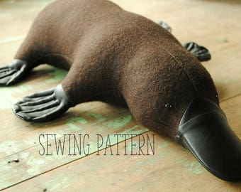Platypus soft toy sewing pattern PDF