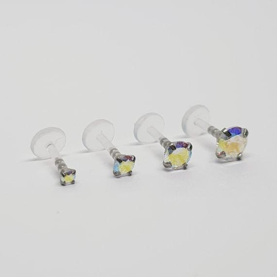 2mm Slide Push in Gem Ball for Bioplast Labrets