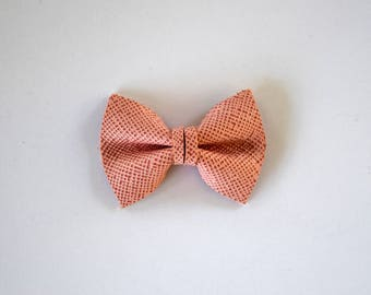 Soft Pink Woven TINY Leather Soft Clip Beautiful Little Bow for Newborn Baby Child Little Girl Adult Photo Prop Valentines Day Bow Clip
