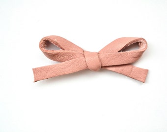 Ballet Pink LARGE Leather Bow Clip Photo Prop for Newborn Baby Little Girl Child Adult Summer Headwrap Pretty Bow
