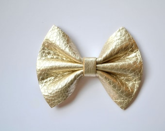 Platinum Leather Baby Headband Bow for Newborn Baby Child Little Girl Adult Spring Summer Adorable Photo Prop Clip