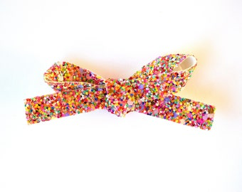 Lolly Glitter LARGE Bow Clip Photo Prop for Newborn Baby Little Girl Child Adult Summer Spring Headwrap Pretty Holiday Pink Bow