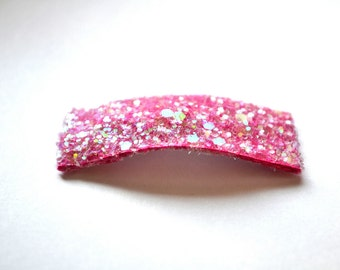 Bubblegum Pink Glitter SNAP Clip Bow for Baby Child Adult Holiday Spring Summer Adorable Photo Prop Darling Sparkly Clip