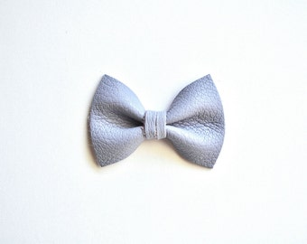 PASTEL LILAC TINY Leather Bow Clip Photo Prop for Girls Adorable Summer Easter Spring Clip for Little Girls Babies Toddlers Adults