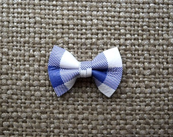 Purple/White Checkered TINY Alligator Clip Bow for Newborn Baby Child Little Girl Adult Photo Prop Adorable Photo Summer Spring Clip