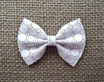 White Eyelet Bow for Newborn Baby Little Girl Child Adult Beautiful Adorable Spring Baby Blessing Baptism Bow Photo Prop Pictures