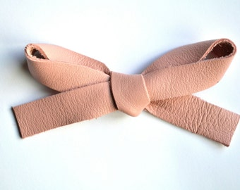 OVERSIZED Ballet Pink Leather Bow Clip Adorable Photo Prop for Newborn Baby Little Girl Child Adult Summer Headwrap Pretty Bow