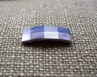 Purple/White Buffalo Check SNAP Clip Bow for Baby Child Adult Summer Spring Easter Adorable Photo Prop Darling Checkered Picnic Bow