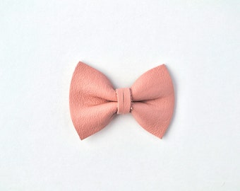 Ballet Pink TINY Alligator Clip Bow for Newborn Baby Child Little Girl Adult Photo Prop Adorable Photo Summer Clip