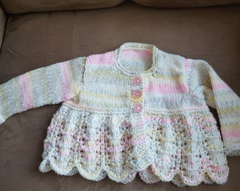 Pastel Baby Sweater Size 6 months