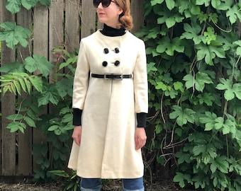 60s Wool Vintage Swing Coat