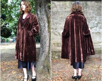 30s Velvet Opera Coat
