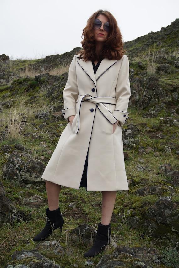 Lilli Ann Coat, Vintage 60s 70s Ivory Coat