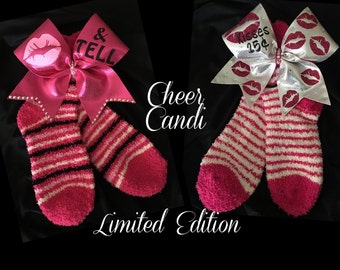Limited Edition Valentines Bow & Cozy Sock Set