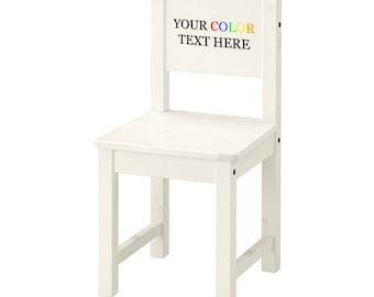 Beautiful Custom Printed In Full Color Childu0027s Sized Wooden Chair   Your Personalized  Text Here
