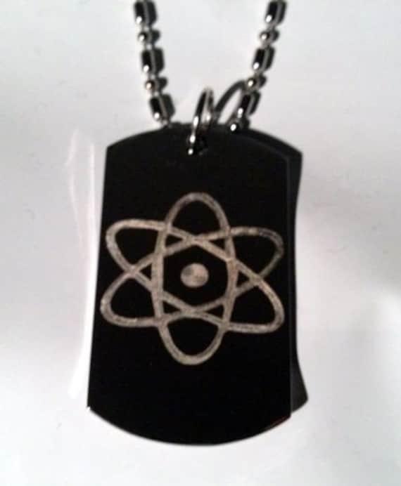 Metal Ring Key Chain Keychain Nuclear Atom Atomic Power Logo Symbols