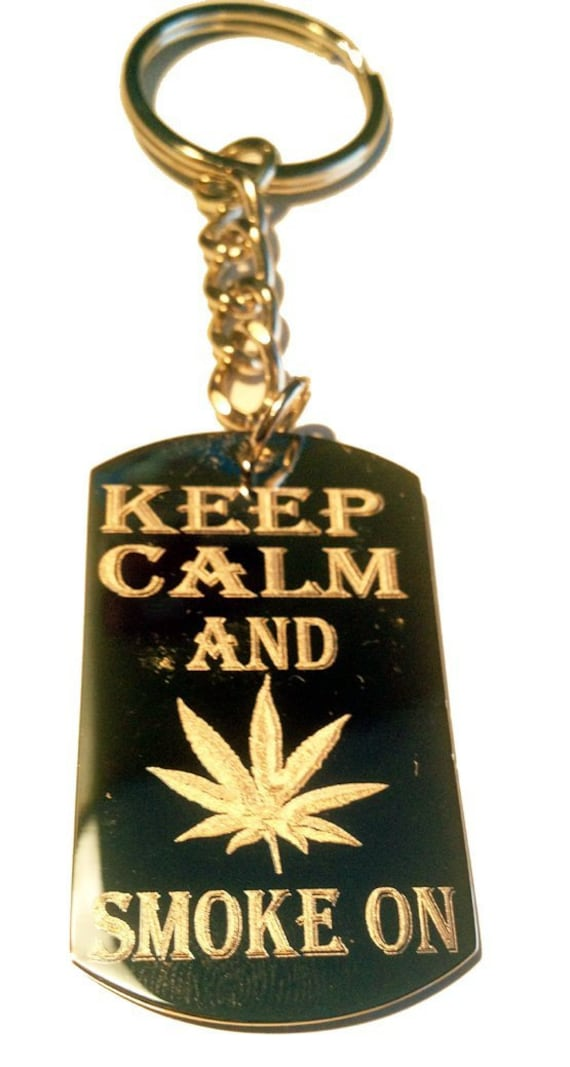 Keep And Smoke On Marijana Weed Pot Leaf Ganja Logo Symbols Etsy