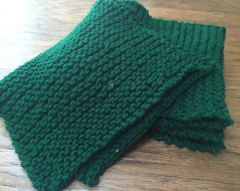 Simple Knit Scarf Etsy