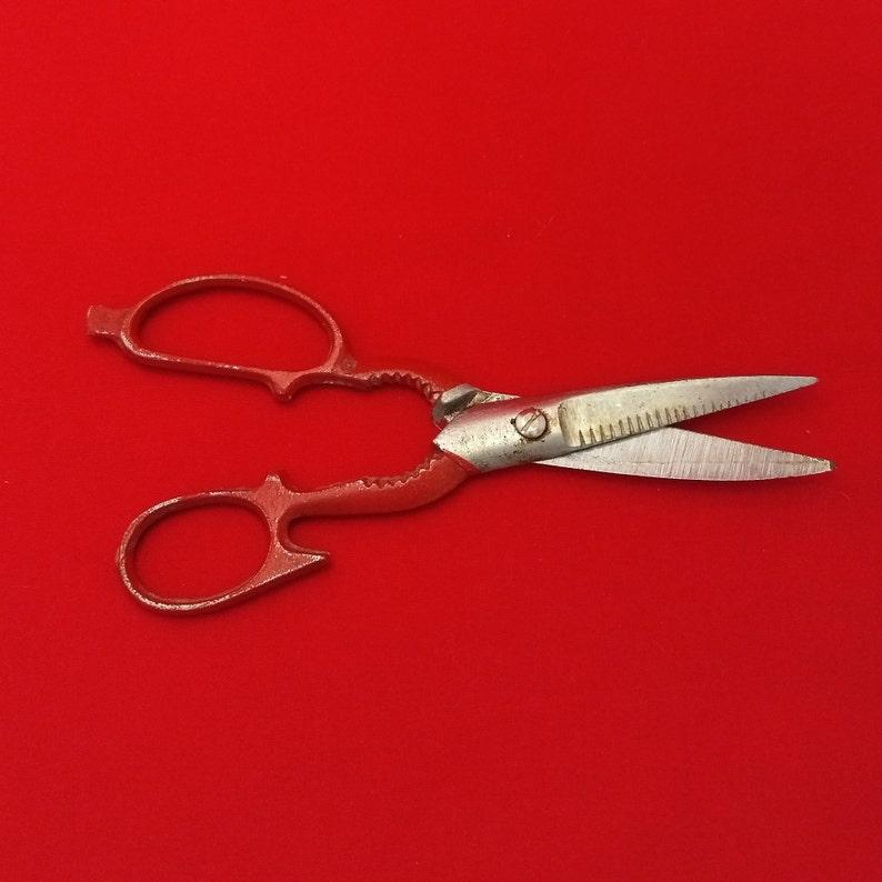 Vintage 8 Metal Scissors with Nutcracker
