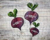 Schrute Farms Beet Glass Mosaic
