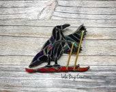 Skiing Raven Mosaic