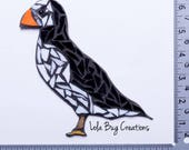 Puffin Mosaic || glass Mosaic Art