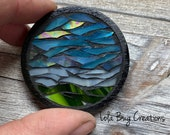 Nature Scene Mosaic Glass Magnet
