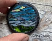 Nature Scene Mosaic Glass Magnet
