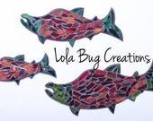 Salmon Mosaic || Mosaic Art || Glass Art glass mosaic
