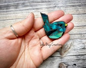 Mini Bird  -Glass Mosaic Magnet