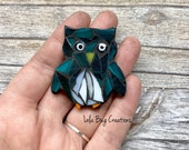 Mini Owl -Glass Mosaic Magnet