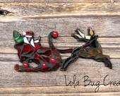 Santa and a Reigndeer mosaic