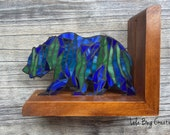 Northern Lights Bear bookend