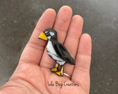 Mini Puffin Glass Mosaic Magnet