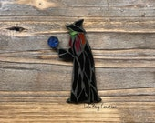Witch with a Crystal Ball Mosaic