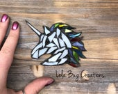 Unicorn glass mosaic