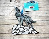 Howling Wolf glass Mosaic