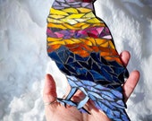 Solstice Sun Raven Glass Mosaic