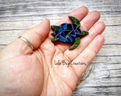 Mini Sea Turtle  -Glass Mosaic Magnet