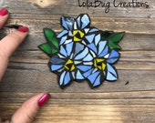 Forget-me-not Glass Mosaic