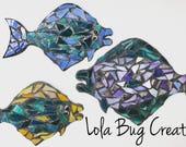 Happy Halibut glass Mosaic